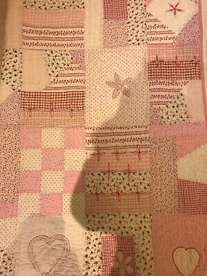 The White Company Girls Pink Bed Cover Quilt Patchwork