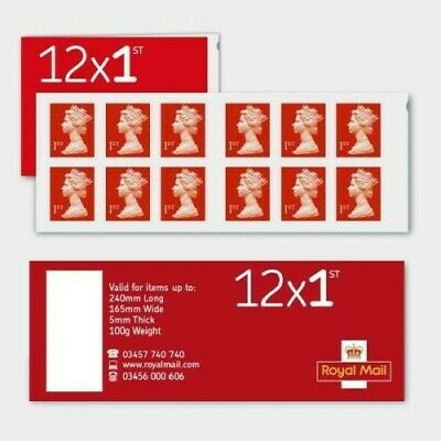 Royal Mail Stamps 25 x FIRST 1st class Book of 12 Letter Stamps: 300 stamps