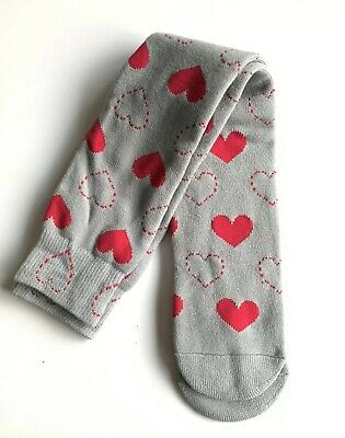 BRAND NEW Trespass Pink Hearts Grey Ski Socks - Wool Blend Tube Socks