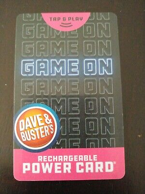 Dave and Buster's power card With over 100,000 Tickets!