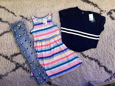BNWT Girls H&M Dress & Top Primark Minnie Mouse Skinny Jeans 8 9 10 Years Size