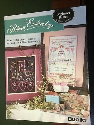 Bucilla Ribbon Embroidery Pattern Book Easy step-by-step guide to Ribbon Embroid