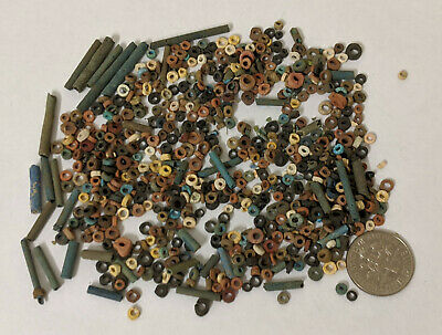 More than FIVE HUNDRED 2500 Year old Ancient Egyptian Faience Mummy Beads (L1364