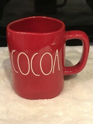 "Rae Dunn by Magenta Christmas L/L  ""COCOA""  Red Coffee Mug/ NEW"
