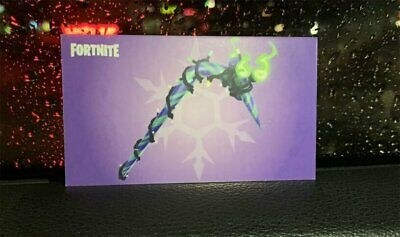 Merry Minty Mint Pick Axe Code Unused Fortnite Pickaxe Card IN HAND