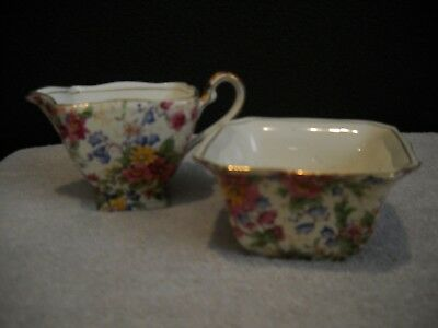 Royal Winton Grimwades Chintz Ascot Creamer & Sugar
