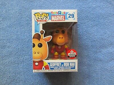 "Funko Pop ""Ad Icons"" Geoffrey as Iron Man, Toy's R Us/Canadian Convention Excl."