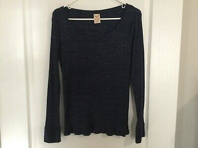 Faded Glory Women/'s Plus Waffle Cowl Neck Long Sleeve Baltic Sea Blue Sweater 3X