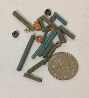 One Gram 2500 Year old Ancient Egyptian Faience Mummy Beads Lot (#L1377)