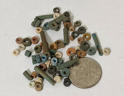 Two Grams 2500 Year old Ancient Egyptian Faience Mummy Beads Lot (#L1378)