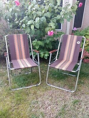 VTG Lot of 2 Elite A&E Systems Chrome Chairs Zip Dee Airstream Made In The USA