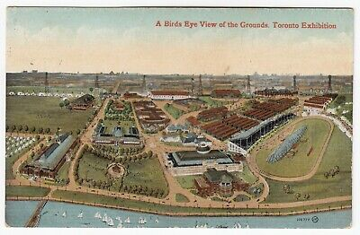 Birds Eye View Exhibition Grounds TORONTO Ontario Canada 1912 Valentine & Sons