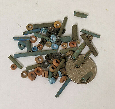 Two Grams 2500 Year old Ancient Egyptian Faience Mummy Beads Lot (#L1382)