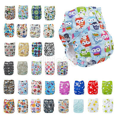 Baby One Size Cloth Diaper Reusable Pocket Nappy Newborn Adjustable BOY COLORS