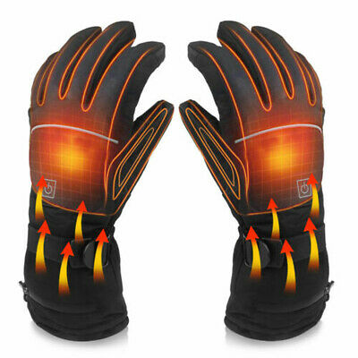 Warm Electric Rechargeable Powered Heated Gloves Winter Motorcycle Bike Gloves