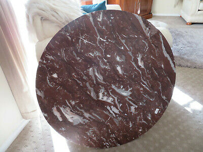 Antique French Rouge Marble table top round