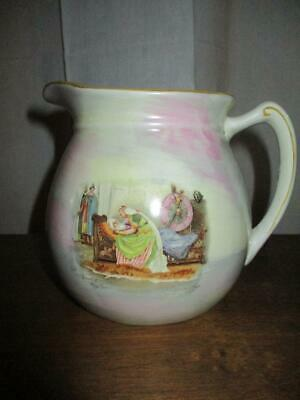 Vintage / Antique Empire Ware English JUG Death of King Lear -WALTER PAGET
