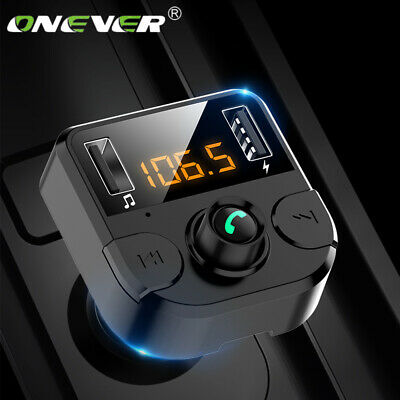 Handsfree Wireless Bluetooth Car Kit FM Transmitter MP3 Player USB Charge ONEVER