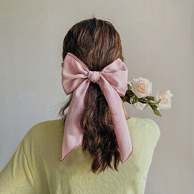 Bow Scrunchies Women Girls Headbands Hair Ties Elastic Ponytail Hair Rope Bands