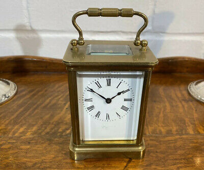 ANTIQUE FRENCH CARRIAGE CLOCK R & Co (Richard et Cie) PARIS 1881, SERVICED.