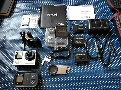 GoPro HERO4  Action Camcorder - Silver + Go Pro Remote + Loads Of Extras