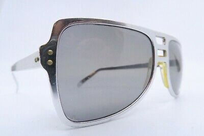 Vintage 70s sunglasses COOL-RAY steel high shine chrome effect grey lens