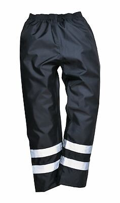 Portwest Iona Lined Trousers Pants Rainwear Abrasion Resistant Reflective