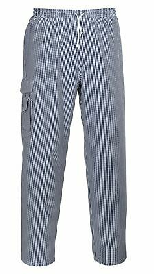 Portwest Chester Chef Trousers Pants Chefswear Unisex Pockets Cotton