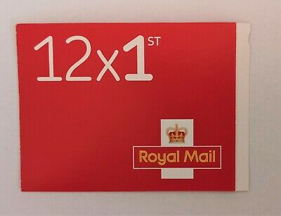 Brand New Royal Mail Book of 12 Red Self Adhesive 1st First Class Postage Stamps