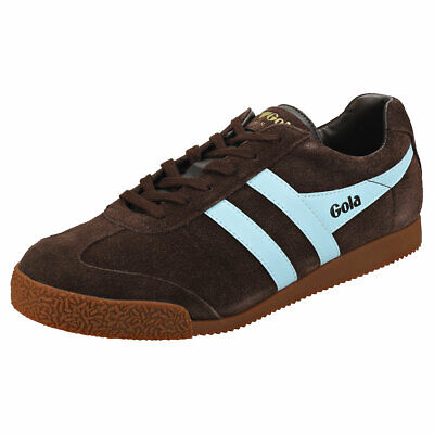 Gola Harrier Unisex Dark Brown Leather & Suede Classic Trainers - 36 EU