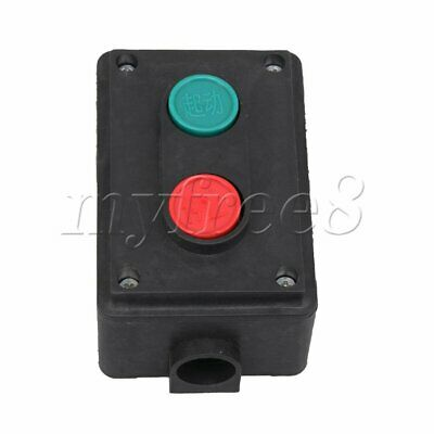 Black Momentary Station Push Button Control Switch Start Stop 2 Buttons