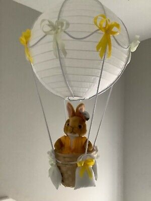 Peter rabbit themed mopsy  hot air balloon nursery light shade, made to order