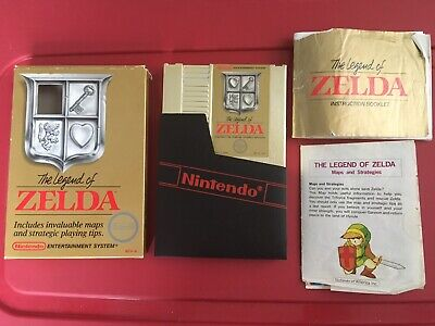 Original Nintendo Nes 1987 Legend Of Zelda Gold Game Tested & Works Perfect Cib