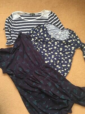 maternity tops size 10 New Look blue Maternity dress