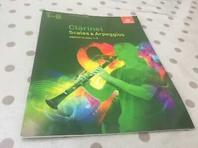 clarinet scales and arpeggios grades1-8 ABRSM