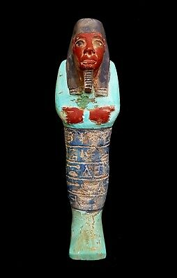 Stunning Ushabti Sculpture Egyptian Antique Shawabti W/T Hieroglyphics Statue