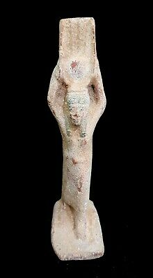 rare hathor egypt goddess statuette ancient genuine antique bead 450 BC Faience