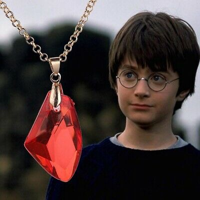 COLLANA HARRY POTTER PIETRA ROSSA MAGICA FILOSOFALE PHILOSOPHICAL RED STONE