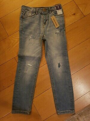 Girls blue River Island Skinny Jeans age 7