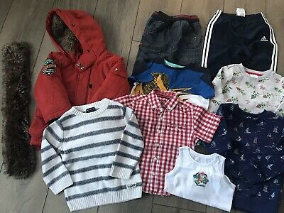 Baby Boys Winter Coat And Clothing Bundle Age 18-24 Months