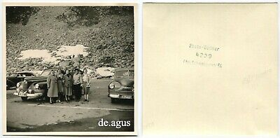 Vintage Photo circa 1950s  cars,opel Classic car,People