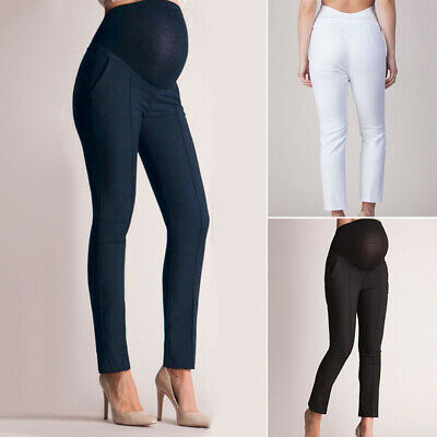 Pregnant Womens Maternity Pencil Soft Pants Pregnancy Casual High Waist Trousers