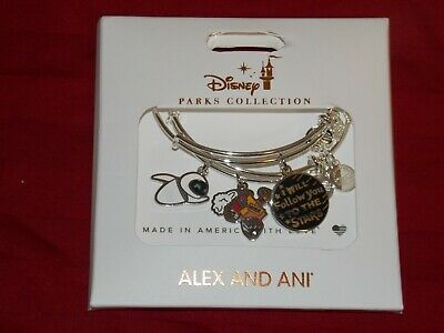 Disney Parks Alex And Ani WALL-E/EVE Follow You To The Stars Silver Bracelet SET