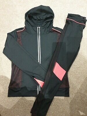 Girls 9 to 10 Years Pink & Black Primark Track Suit worn once gym sports