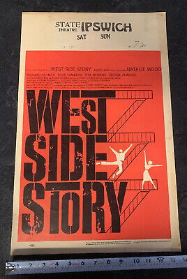 WEST SIDE STORY * CineMasterpieces  Collector MUSICAL ORIGINAL RED MOVIE POSTER