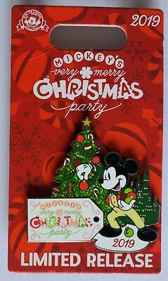 Disney Parks 2019 Mickey's Very Merry Christmas Party Logo Trading Pin New