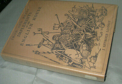 reference book antique IRON and BRASS Implements ENGLISH HOUSES ex Nat'n library