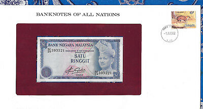 Banknotes of All Nations Malaysia 1981 1 Ringgit P13b UNC Prefix M/24*