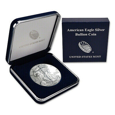 1998 $1 American Silver Eagles BU In US Mint Gift Box