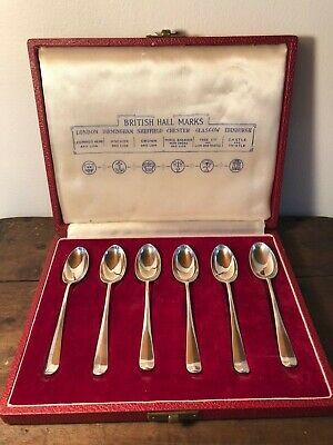 Six Sterling Silver spoons by Reed & Barton - British Hallmarks Set - Coronation